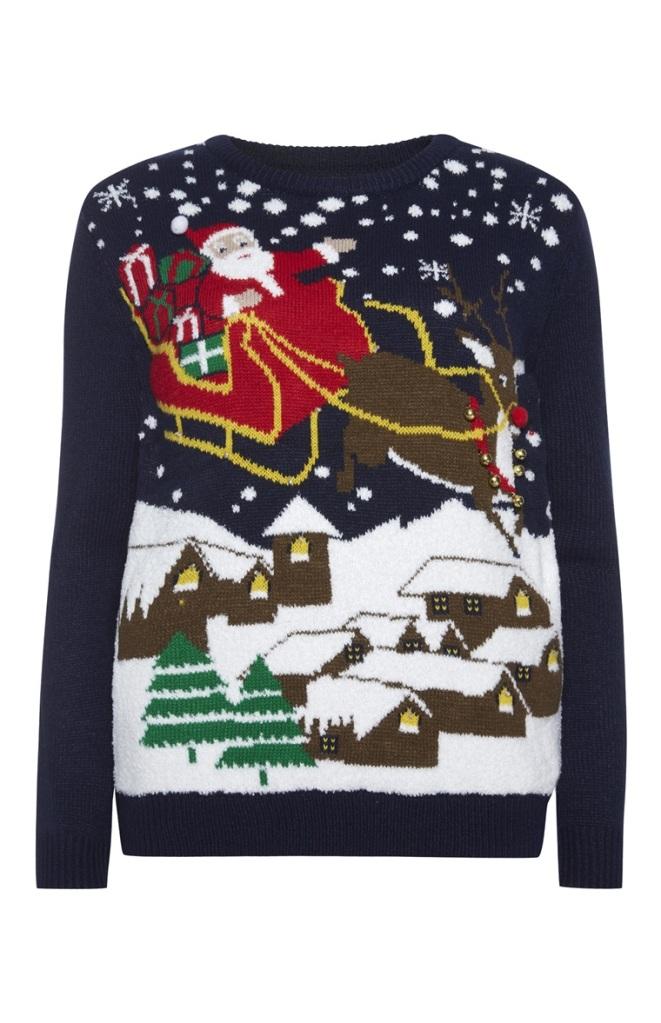 light up sleigh scene primark