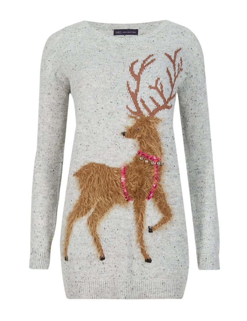 reindeer jingle jumper m&s