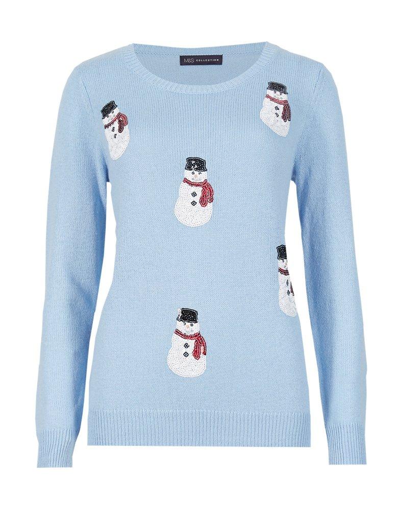 seqiun embellished snowman m&s